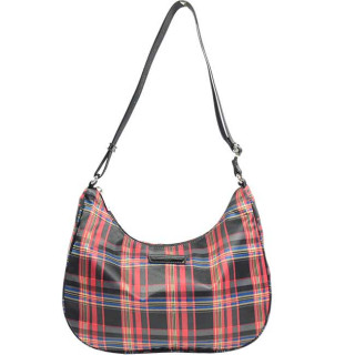 Lancaster Basic Verni Sac Porté Travers 510-40 Rouge Tartan