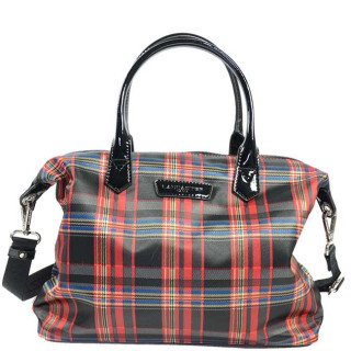 Lancaster Basic Verni Sac Shopping 514-66 Rouge Tartan
