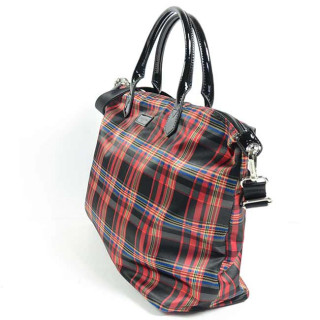 Lancaster Basic Verni Grand Sac Shopping 514-67 Rouge Tartan