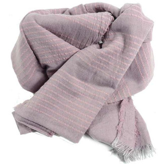 Scarf Farfouillette Chech Patterns Pink Stripes