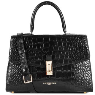 Lancaster Exotic Croco Sac A Main 524-47 Noir