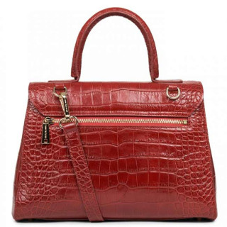 Lancaster Exotic Croco Sac A Main 524-47 Rouge