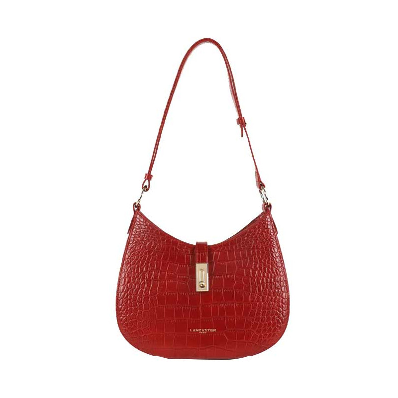 Lancaster Exotic Croco Sac Besace 524-49 Rouge