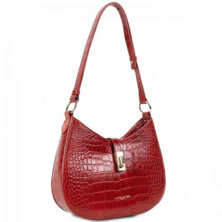 Lancaster Exotic Croco Sac Besace 524-49 Rouge cote