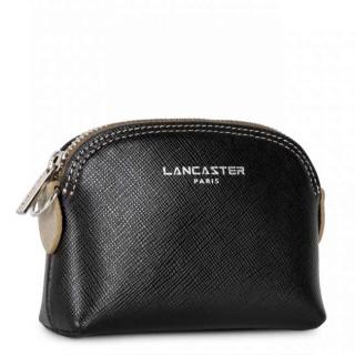 Lancaster Saffiano Intemporel Porte Monnaie 121-25 Noir Vison Champagne
