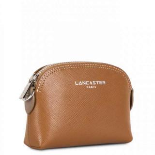 Lancaster Saffiano Intemporel Porte Monnaie 121-25 Camel Nude Vison