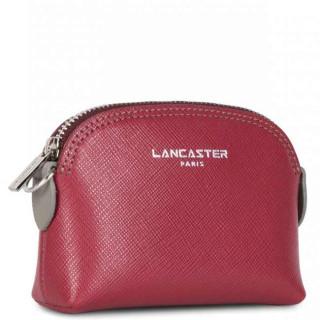Lancaster Saffiano Intemporel Porte Monnaie 121-25 Framboise Bordeaux Gris