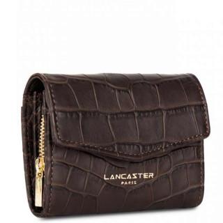 Lancaster Exotic Croco Porte Monnaie 124-14 Marron