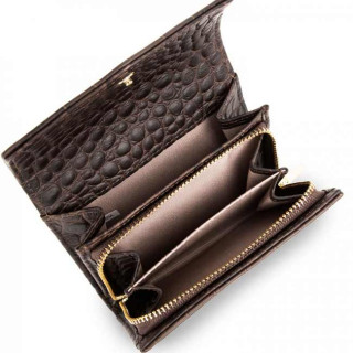 Lancaster Exotic Croco Soft Wallet 124-14 Brown