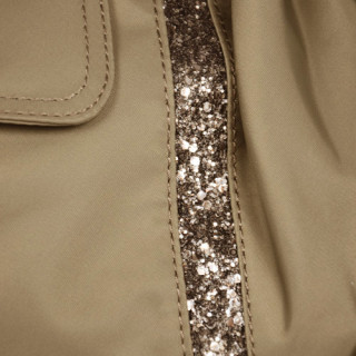 Lancaster Basic et Sport Glitter Sac Porté Epaule 514-19-Taupe detail