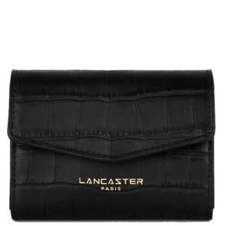 Lancaster Exotic Croco Souple Porte Monnaie 124-14 Noir