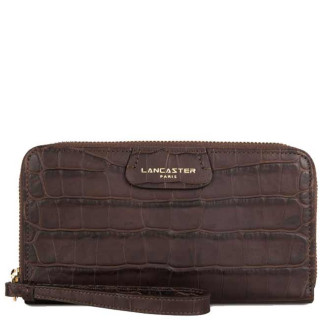 Lancaster Exotic Soft Croco Wallet and Companion 124-15 Brown