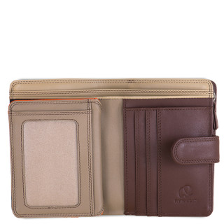 Mywalit Portefeuille Snap Medium Cuir Cacao