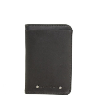 Jean Louis Fourès Baroudeur Wallet Rounded Edges F9222 Black
