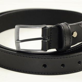 JL Fourès Baroudeur Leather Belt Male F50348 Black