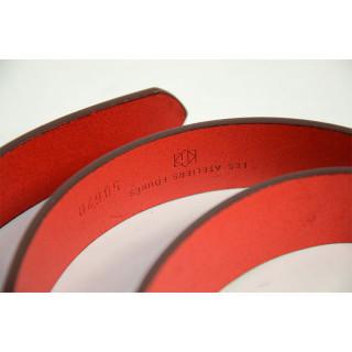Jean Louis Fourès Baroudeur Ceinture Cuir F50620 Rouge