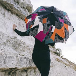 Parapluie Piganiol Outre Monde Droit Vulcain porté