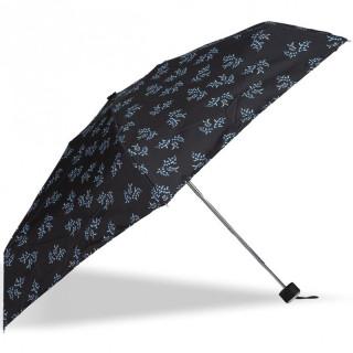 Isotoner Umbrella Women Mini-Pliant X-TRA Sec Manuel Mimosa White