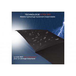 Isotoner Parapluie Femme Mini-Pliant X-TRA Sec Manuel Fleurs Origami
