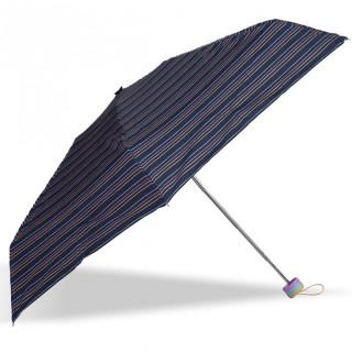 Isotoner Umbrella Women Mini-Pliant X-TRA Sec Manuel Caravelle Stripe