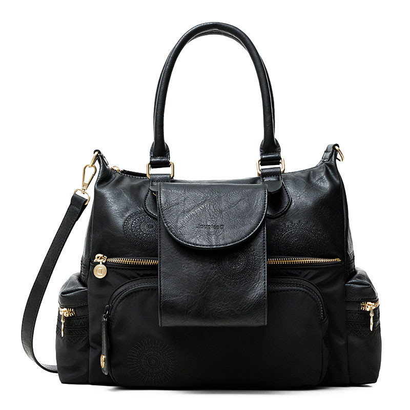Desigual London Sac à Main Multi Pochettes Negro