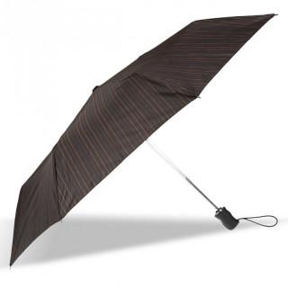Isotoner Parapluie Homme Pliant  X-TRA Solide Automatique Rayure Surpiquée