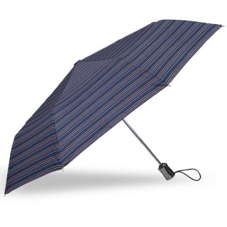 Isotoner Parapluie Homme Pliant X-TRA Solide Automatique Rayure Caravelle