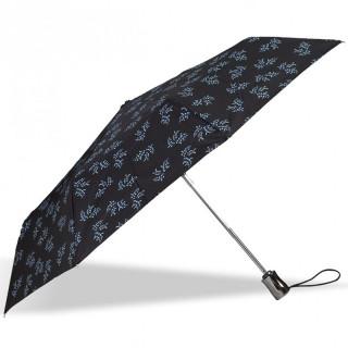 Isotoner Parapluie Femme Pliant X-TRA Solide Automatique Mimosa Blanc