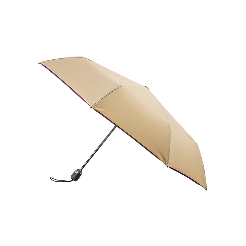 Parapluie Pliant Automatique Piganiol Essentiel Beige Prune