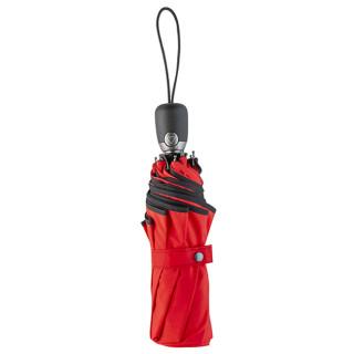 Automatic Folding Umbrella Piganiol Black Red Essential