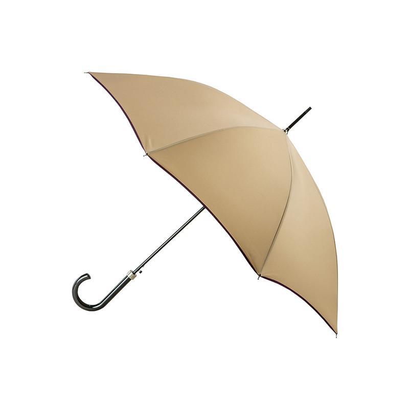 Parapluie Droit Automatique Piganiol Essentiel Beige Prune