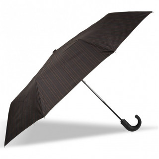 Isotoner Umbrella Men Handle Automatic Fold X-TRA Solid Stitched Stripe