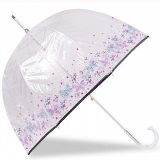 Isotoner Parapluie Femme Cloche Manuel PVC / Papillon Fleur