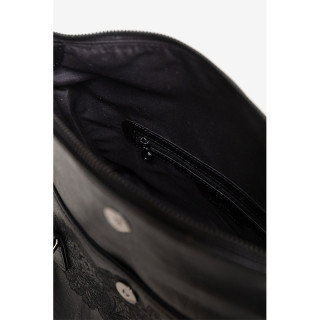 Desigual Loverty Ka Sac à Main Mandalas Brodés Fleurs Noir