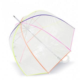 Isotoner Parapluie Femme Pliant Cloche Manuel PVC / Neon