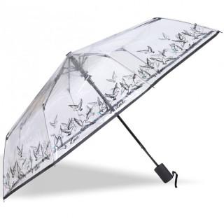 Isotoner Parapluie Femme Pliant Automatique PVC / Colombe
