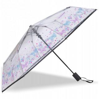 Isotoner Parapluie Femme Pliant Automatique PVC / Papillon Fleur