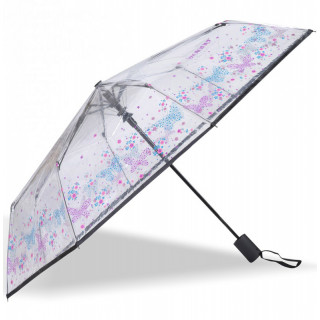 Isotoner Umbrella Women's Automatic Fold PVC / Flower Butterfly
