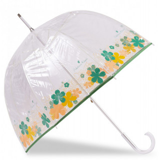 Isotoner Umbrella Woman Cane Manual PVC / Japanese Flower