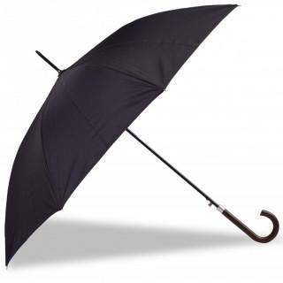 Isotoner Umbrella Woman Black Black Cane Cloud