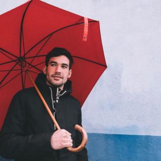 Piganiol Parapluie Homme L'Aurillac Tradition Rouge