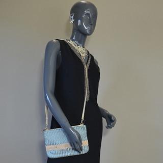 Mila Louise Nina Rond Sac et Pochette Bleu