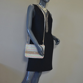 Mila Louise Nina Tweed Silver Bag and Pocket