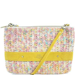 Mila Louise Nina Tweed Bag and Pink Pocket