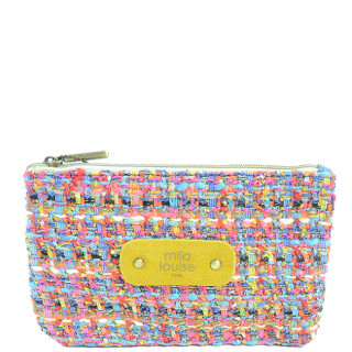 Mila Louise Poch Tweed PM Porte monnaie Multi