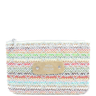 Mila Louise Poch Tweed PM Silver Currency Holder
