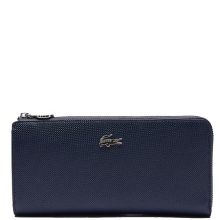 Lacoste Portefeuille Large zip Daily Classic Marine