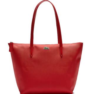 Lacoste Zippé Cabas Bag L12.12 Alizarine
