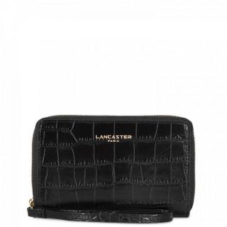 Lancaster Exotic Croco Irisé Wallet Companion Leather Croco 124-12 Black