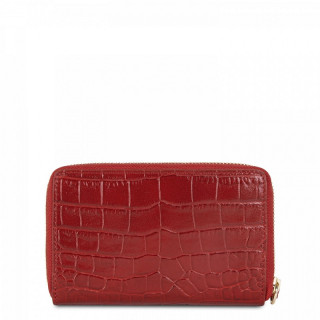 Lancaster Exotic Croco Irisé Wallet Companion Leather Croco 124-12 Red